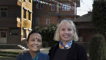 Perth woman Gillian Yudelman (right) was inspired with Anuradha Koirala's fight against sex trafficking. Photo: Clifford Yuleman