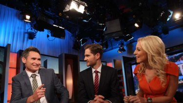 The 7pm Project: Dave Hughes, Charlie Prickering and Carrie Bickmore.