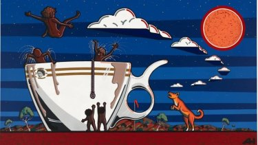 Adam Hill, Not everyone's cup of tea, 2009, synthetic polymer paint on canvas. National Gallery of Australia, Canberra.