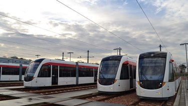 Off the rails: The Edinburgh tram system has gone massively over its budget and deadline.