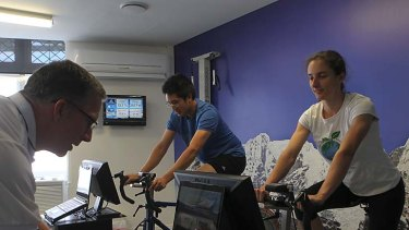 Up and at 'em ... the Sydney Altitude Training studio.