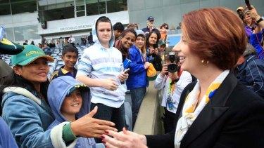 Rising in the polls ... Prime Minister Julia Gillard.