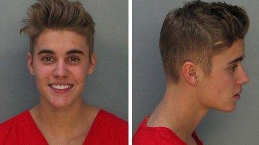 Booking shot: Bieber.