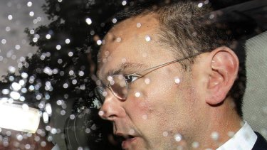 James Murdoch leaves parliament after giving evidence to the Culture, Media and Sport Select Committee.