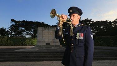 Bugler Sgt Pete McCracken.