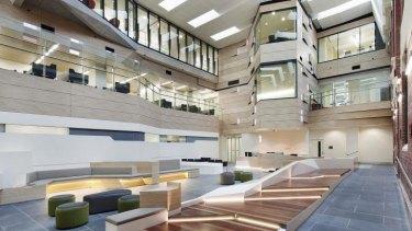 The interior of the Ballarat Regional Integrated Cancer Centre.