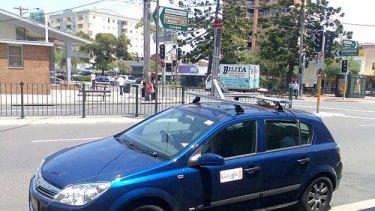 The Google Street View car in Sydney.
