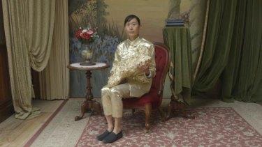 A still from Eugenia Lim's video installation <i>Yellow Peril</i>.