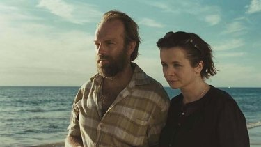 Hugo Weaving, pictured with co-star Emily Watson, says a calm working environment helped forge on-screen relationships.