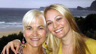 Author Helen Cummings with her daughter, actress Sarah Wynter.