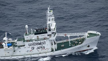 The Japanese whaling fleet security ship, Shonan Maru No.2, pictured recently in the Southern Ocean.