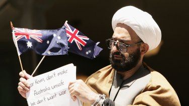 Man Haron Monis campaigns in 2009.