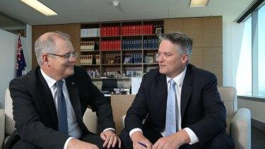 Scott Morrison and Mathias Cormann.