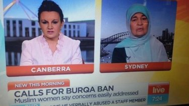 Jacqui Lambie and Maha Abdo on Sunrise on Thursday.