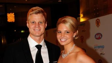 ... Nick Riewoldt and Catherine Heard.