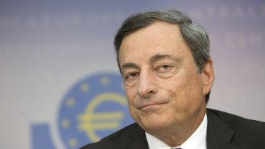 """Mario Draghi, who said the institution was """"ready for all contingencies"""" to help calm market anxiety."""
