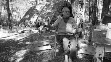 Unconventional: Australian artist Ian Fairweather outside his grass hut on Bribie Island, off the coast of Queensland, September 1, 1970.