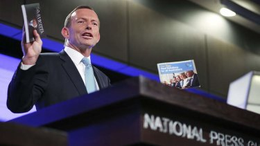 ''The Coalition will reveal our costings after the government reveals theirs'' … Tony Abbott at the National Press Club.