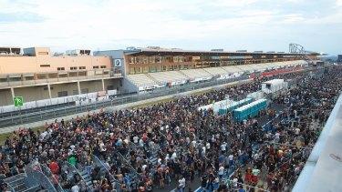 Ninety-thousand people had flocked ot the three-day festival.