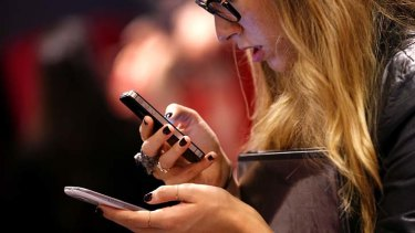 See-through: Texting on the go could be made easier by Apple's new technology.