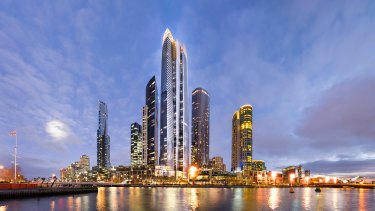 Crown casino's plan for its new 90-story hotel and apartment tower.