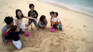 Fukushima fallout refugees meet at Naminoue beach in Okinawa