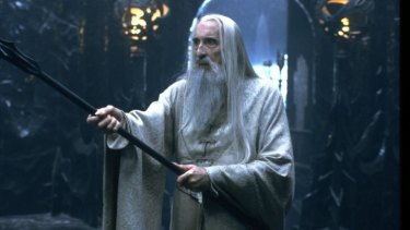 Stern yet benign ... Christopher Lee as Saruman.