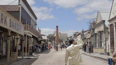 Eugenia Lim tours Sovereign Hill in her video work <i>Yellow Peril</i>.