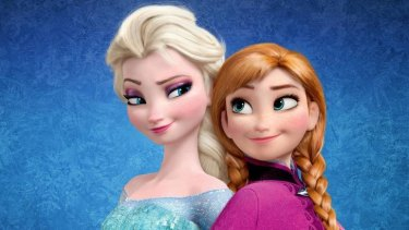 Elsa and Ana in <i>Frozen</i>. Their relationship was hailed as a welcome change in movies aimed at young girls.