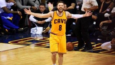 Aussie attack: Australian-born Matthew Dellavedova of the Cavaliers in the NBA Finals.