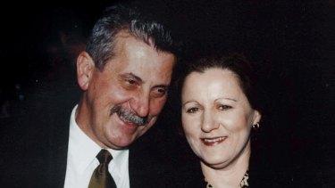 Retired Detective Inspector John Kapetanovski and his wife Margaret Lewis.