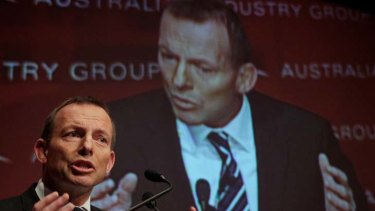 Unflattering portrait ... Tony Abbott.