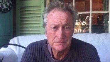 Actor Bryan Brown in the video.