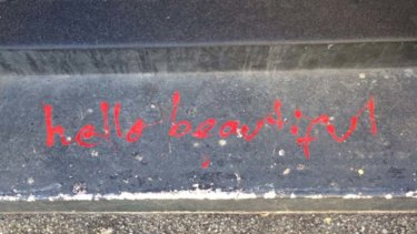 Uplifting: The 'Hello, Beautiful' graffiti that adorns the city's north.