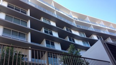 Apartments on Commercial Road, Teneriffe, where the body of Ms Myang was found.