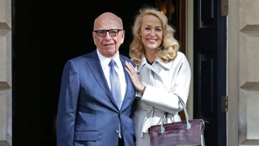 Rupert Murdoch and his fourth wife, Jerry Hall.