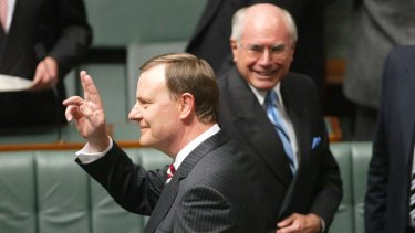 Peter Costello (left) and John Howard: Supported Dr Martin Parkinson and Dr Ian Watt.