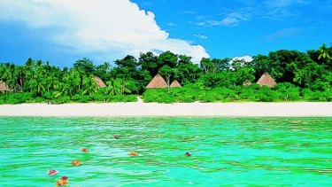 The luxurious resort on Fiji's Vatulele island.