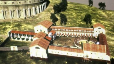 Officials say the structure found at Cartnuntum rivals the largest of the gladiator training schools in Rome.