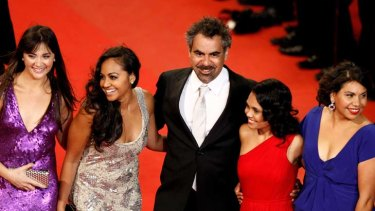 Red carpet treatment ... left to right, Shari Sebbens, Jessica Mauboy, Wayne Blair, Miranda Tapsell and Deborah Mailman.