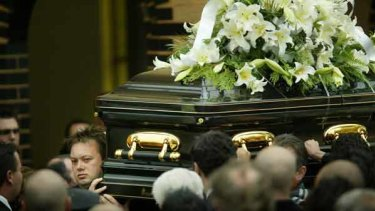 Carl Williams at the funeral of his best friend, slain underworld hitman Andrew 'Benji' Veniamin.