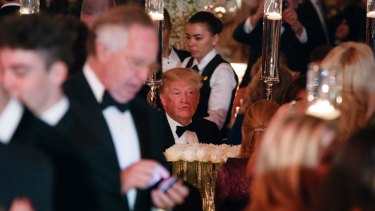 US President Donald Trump sees in the New Year at a gala event at his Mar-a-Lago resort in Florida.