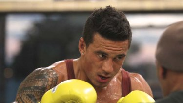 """""""I went a bit too hard one day ... pulled my hammy"""" ... Sonny Bill Williams."""
