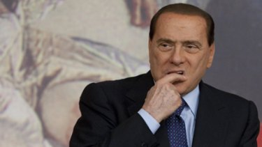 Silvio Berlusconi during a press conference on Friday.