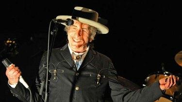 Bob Dylan on his Australian tour.