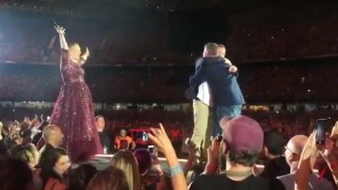 Adele's delight after Chris said yes to partner Wade Nicholson-Doyle's proposal.