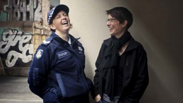 Senior Constable Lee-Anne Dainer and Tiffany Overall.