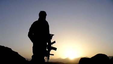 An Australian special forces soldier on watch in Afghanistan.