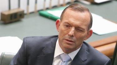 Prime Minister Tony Abbott in question time on Thursday.