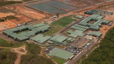 The Wickham Point immigration Detention Center, 30 km south -East of Darwin.